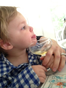 can't get enough of his sparkling apple cider.
