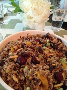 my favorite from the day...the wild rice salad.