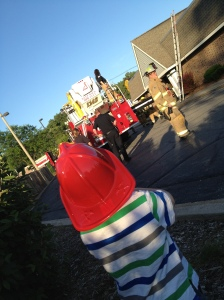 fireman henry is on the scene.